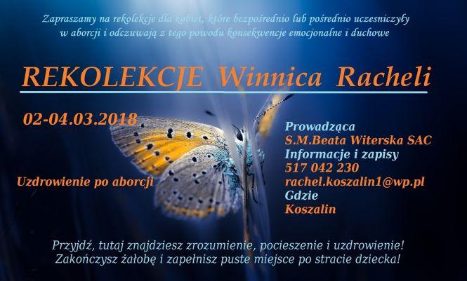 Winnica Racheli 2-4 marca w Koszalinie