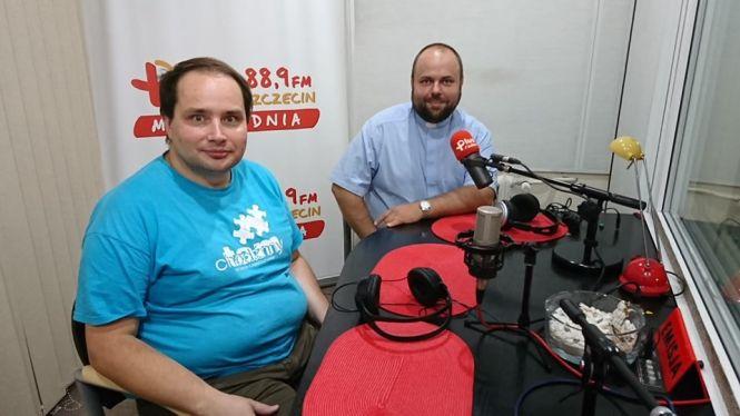 ks. Karol Łabęda (dyrektor Szczecińskiej Pieszej Pielgrzymki na Jasną Górę), Piotr Bolin (służba medyczna pielgrzymki)