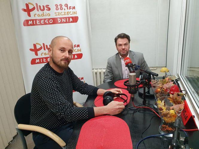 Daniel Wacinkiewicz (zastępca Prezydenta Szczecina), Paweł Jaworski (Koordynator Procesu Prototypowania na Placu Orła Białego w Szczecinie)
